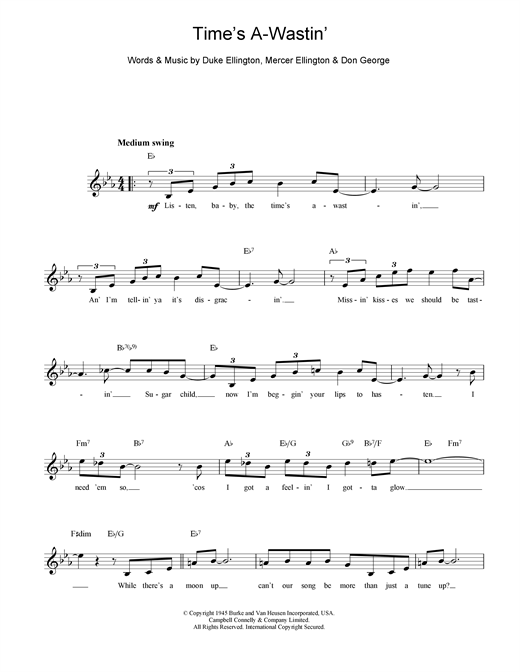 Time's A Wastin' Sheet Music