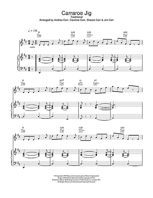 Carraroe Jig Sheet Music
