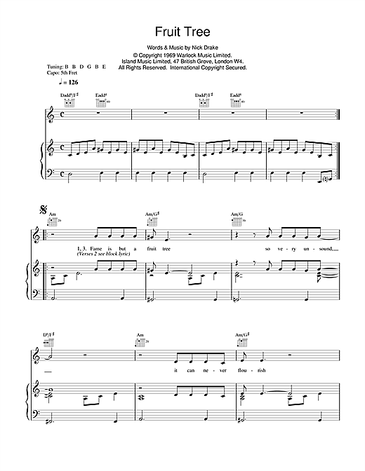 Fruit Tree Sheet Music