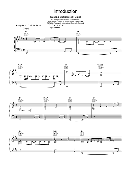 Introduction Sheet Music