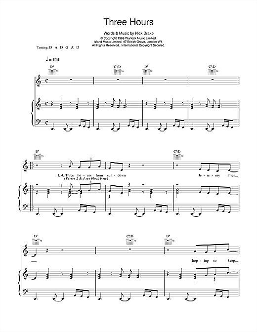 Three Hours Sheet Music