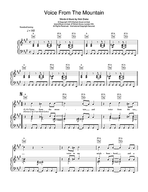 Voice From The Mountain Sheet Music