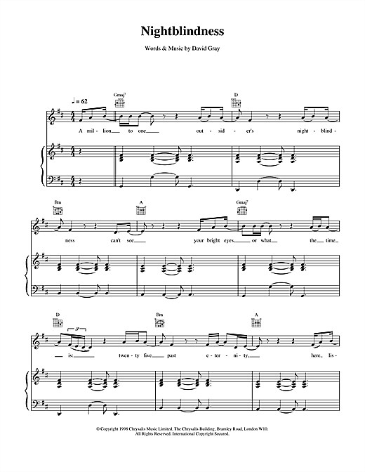 Nightblindness Sheet Music