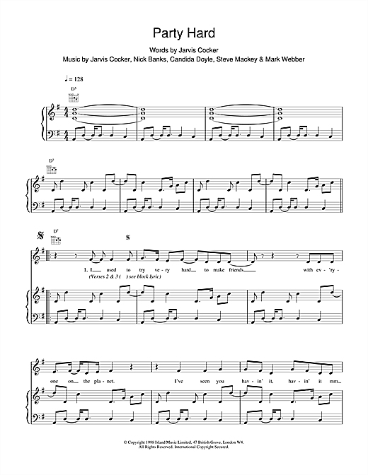 Party Hard Sheet Music