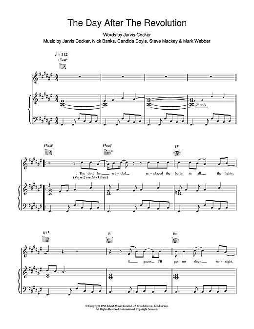 The Day After The Revolution Sheet Music