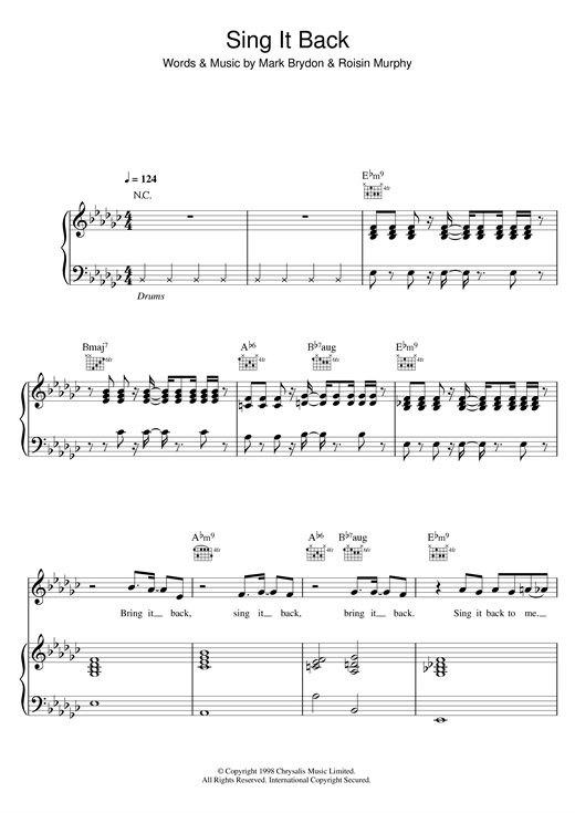 Sing It Back Sheet Music