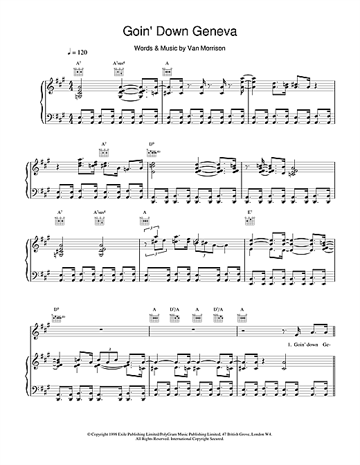 Goin' Down Geneva Sheet Music