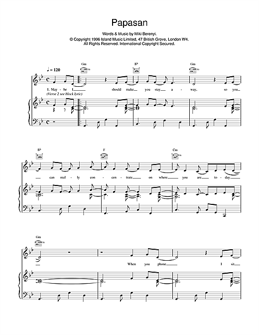 Papasan Sheet Music