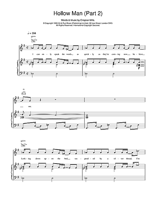 Hollow Man (Part 2) Sheet Music