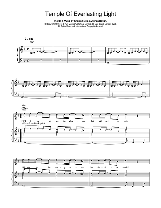Temple Of Everlasting Light Sheet Music