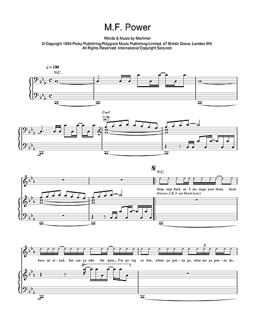 M F Power Sheet Music