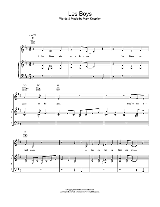 Les Boys Sheet Music
