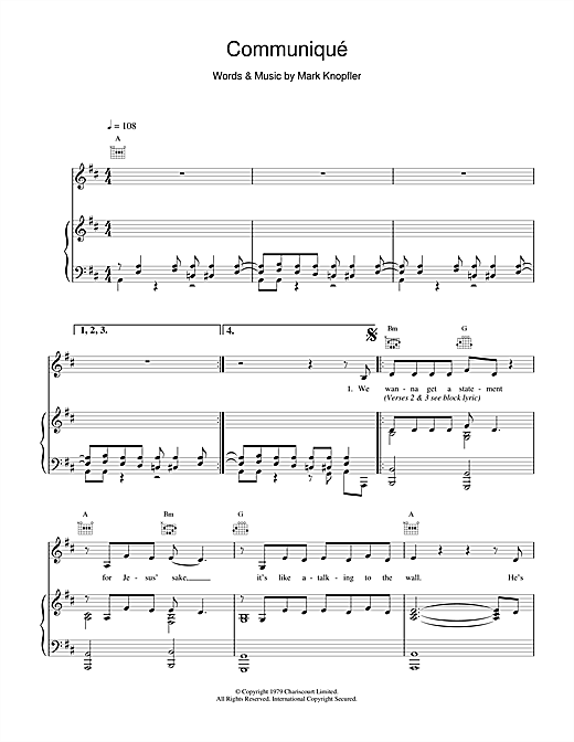 Communique Sheet Music