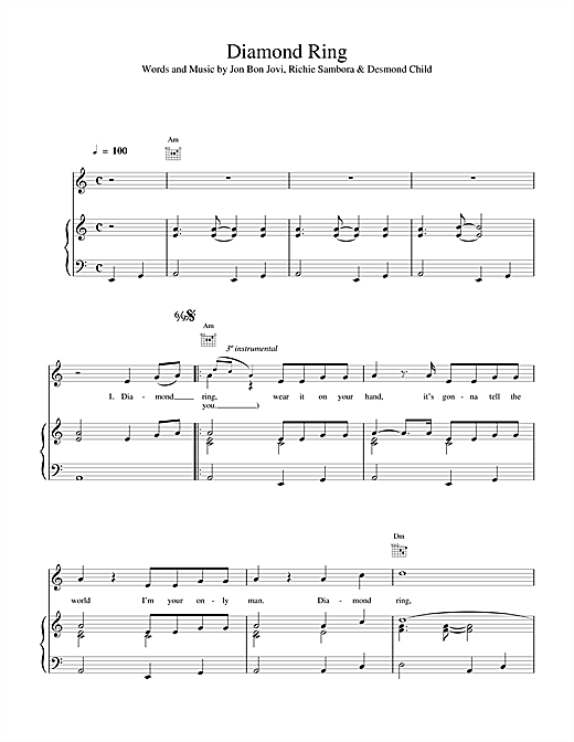 Diamond Ring Sheet Music