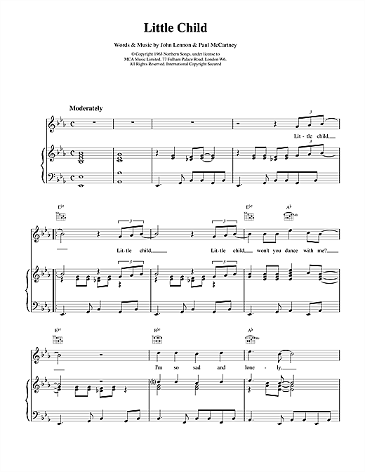 Little Child (Piano, Vocal & Guitar (Right-Hand Melody))