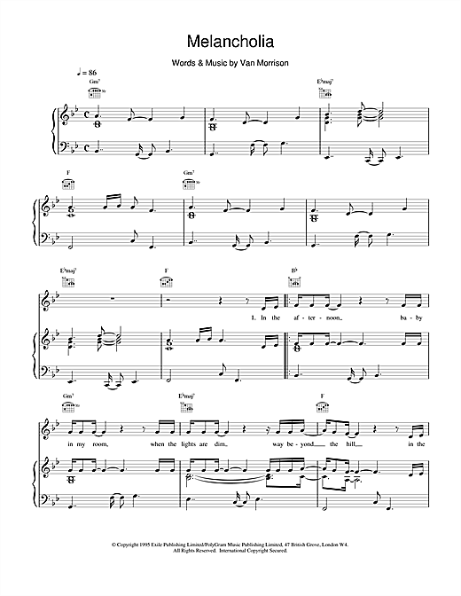 Melancholia Sheet Music