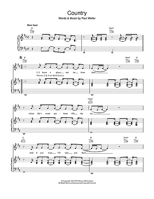 Country Sheet Music
