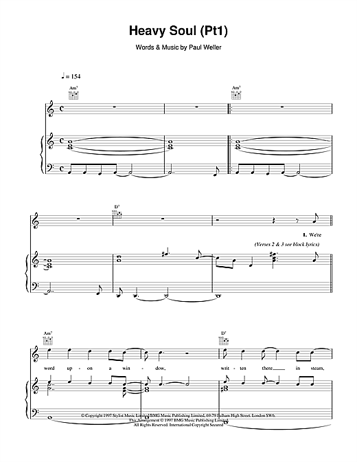 Heavy Soul (Pt1) Sheet Music