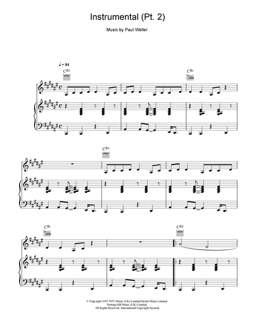Instrumental (pt2) Sheet Music