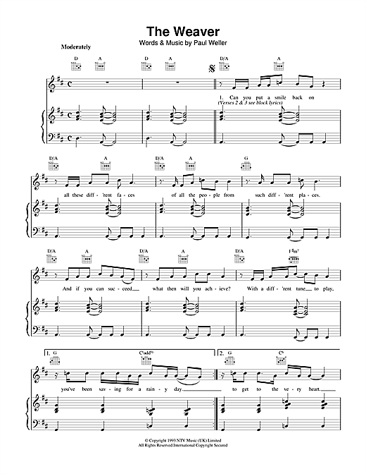 The Weaver Sheet Music