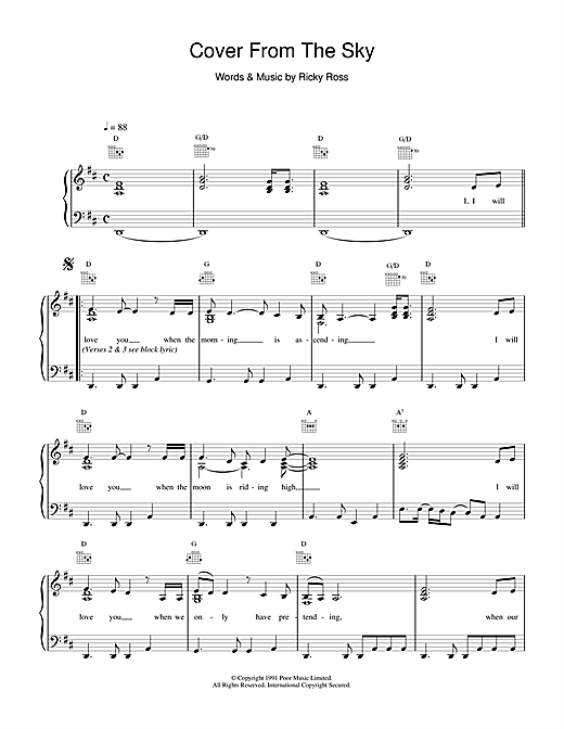 Cover From The Sky Sheet Music