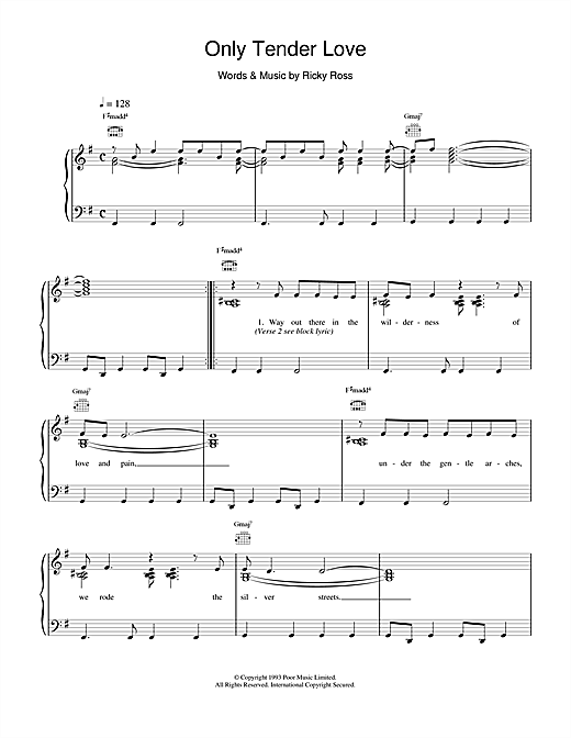 Only Tender Love Sheet Music