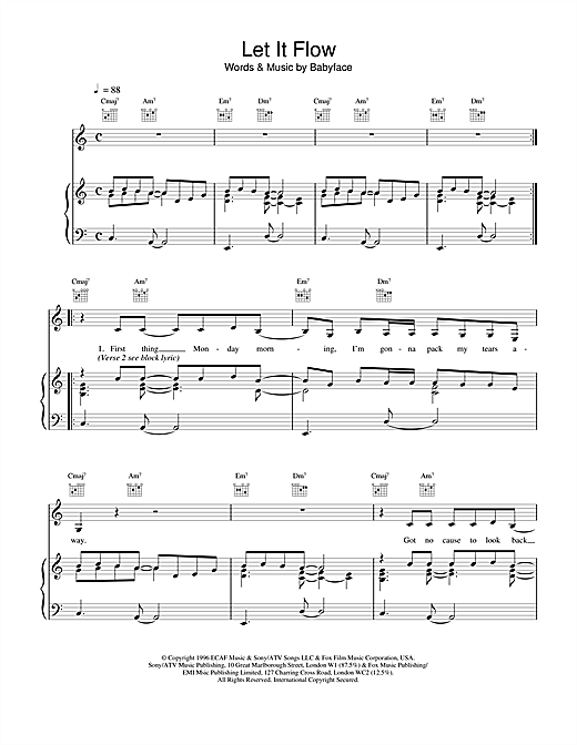 Let It Flow Sheet Music
