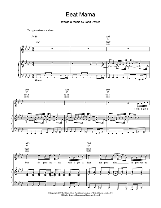 Beat Mama Sheet Music