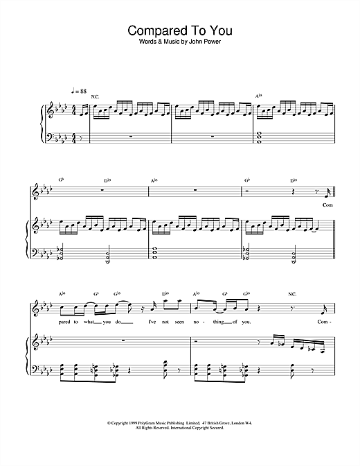 Compared To You Sheet Music