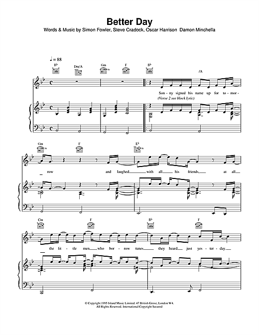 Better Day Sheet Music