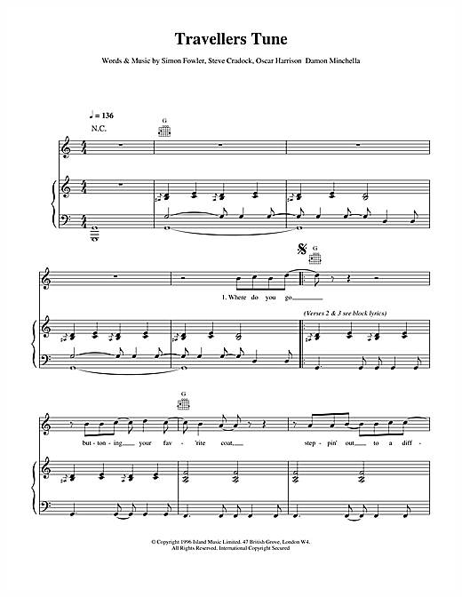Travellers Tune Sheet Music