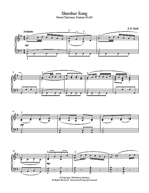 Slumber Song Sheet Music