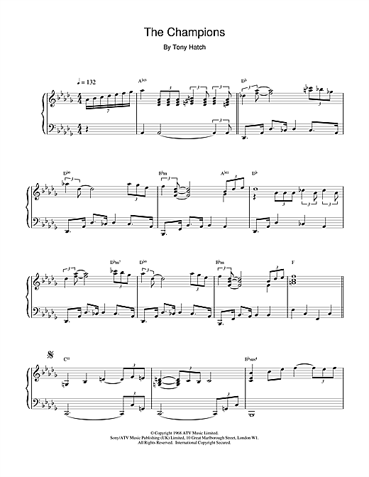 The Champions Sheet Music