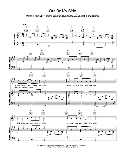 Out By My Side Sheet Music
