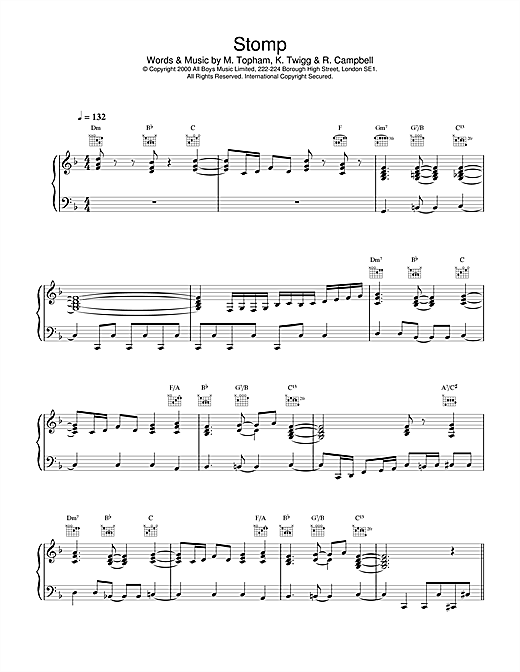 Stomp Sheet Music