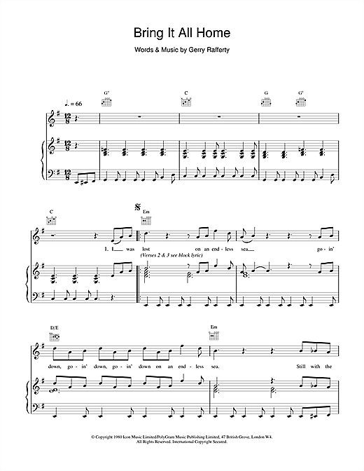 Bring It All Home Sheet Music