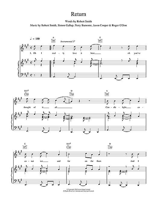 Return Sheet Music