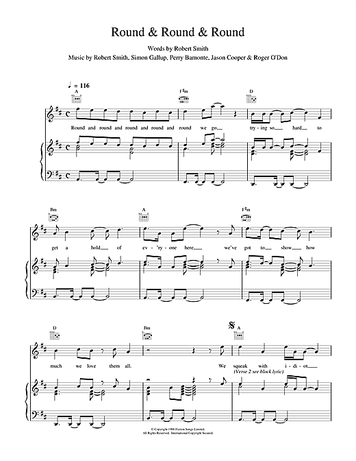 Round & Round & Round (Piano, Vocal & Guitar (Right-Hand Melody))