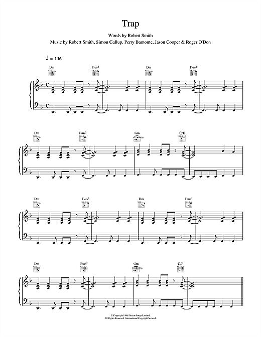 Trap Sheet Music