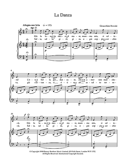 La Danza Sheet Music