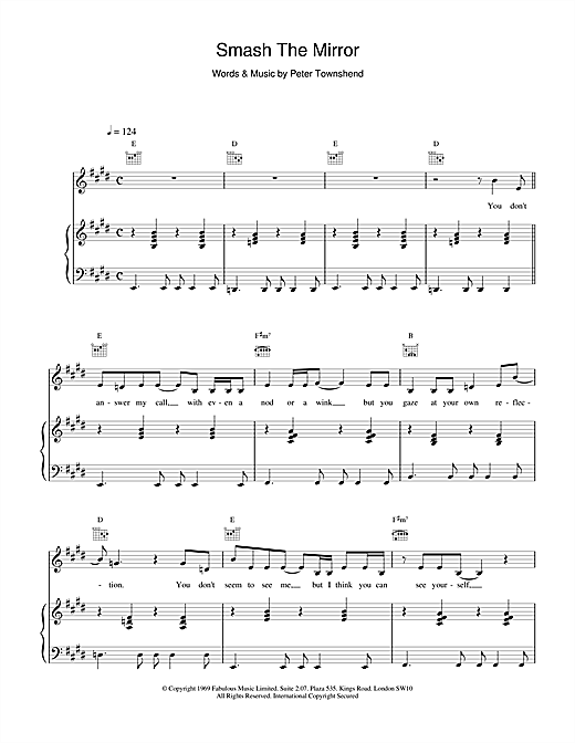 Smash The Mirror Sheet Music