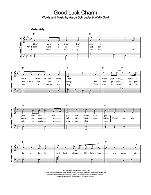 Good Luck Charm Sheet Music