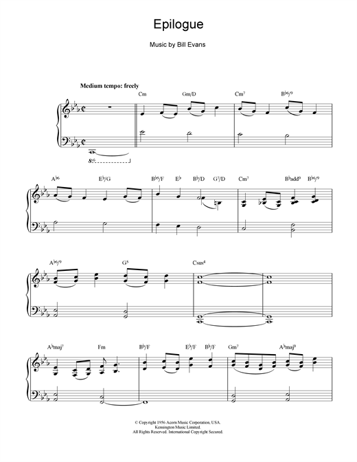 Epilogue Sheet Music