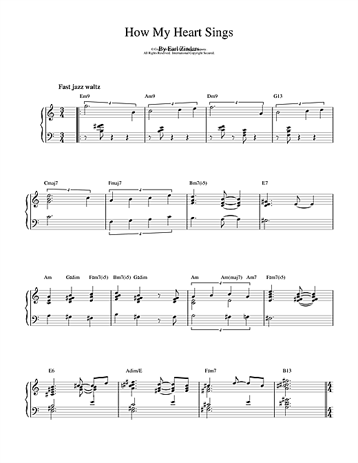 How My Heart Sings Sheet Music