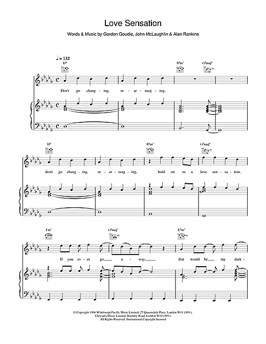 Love Sensation Sheet Music