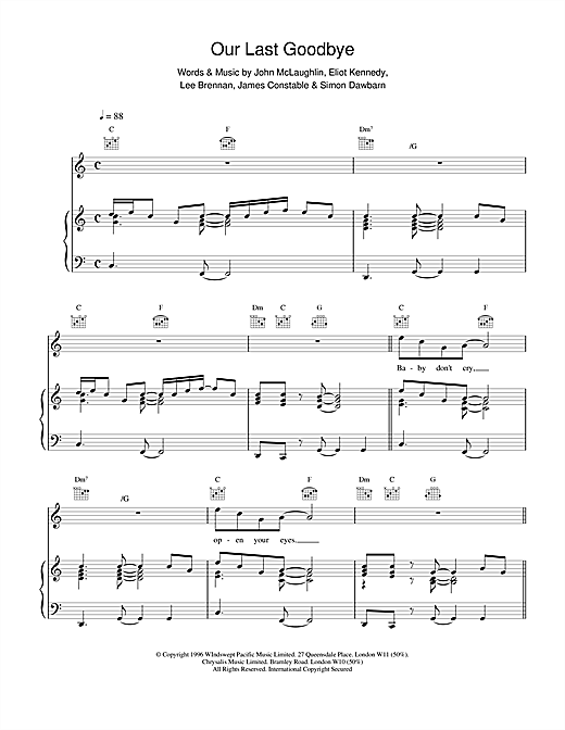 Our Last Goodbye Sheet Music