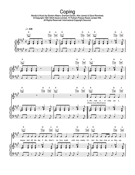 Coping Sheet Music