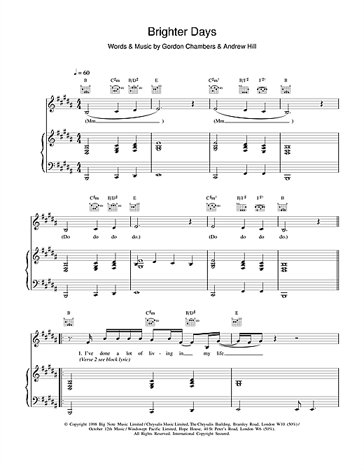 Brighter Days Sheet Music