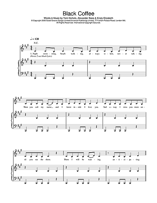 Black Coffee Sheet Music