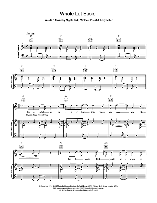 Whole Lot Easier Sheet Music